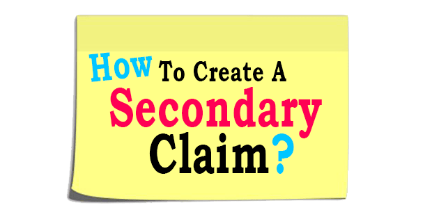 How to create a secondary claim